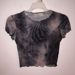 Urban Outfitters Tie Dye Mesh Top